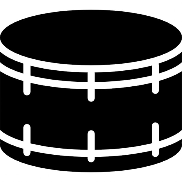 626x626 Drum Silhouette With White Details Icons Free Download