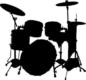330x308 New Custom Screen Printed T Shirt Drum Kit Music Silhouette Smal