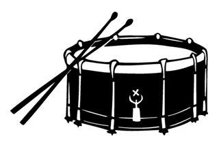 320x210 Snare Drum Decal Sticker