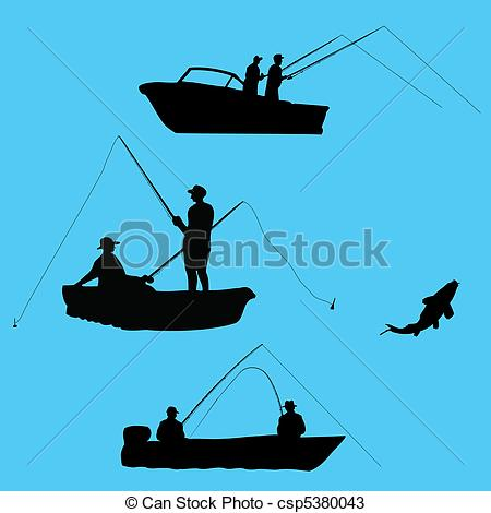 450x470 Fishing Boat Clipart Silhouette