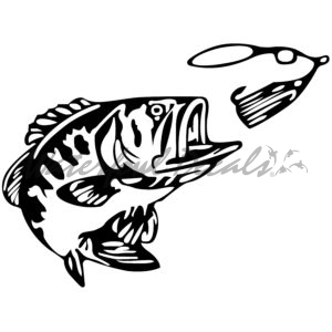 300x300 Fishing And Fish Silhouette Decals Fishing Stickers