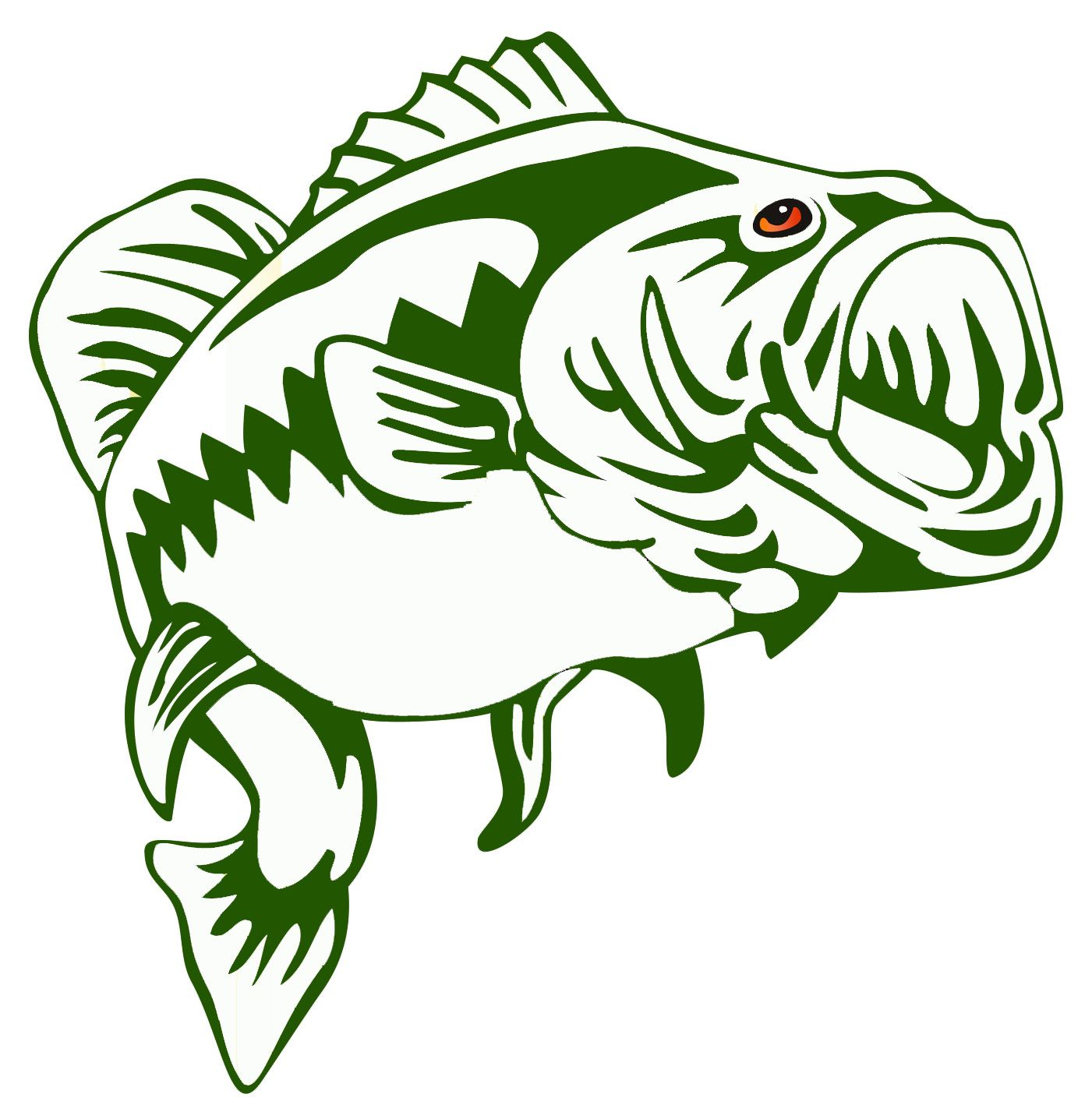 1401x1427 Largemouth Bass Outline Frees That You Can Download To Clipart