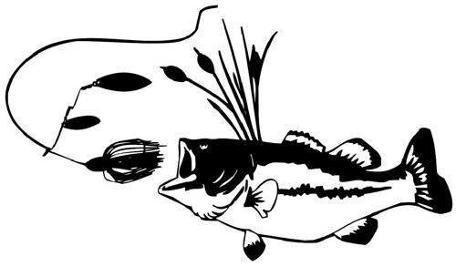 Bass Fish Silhouette at GetDrawings.com | Free for ...