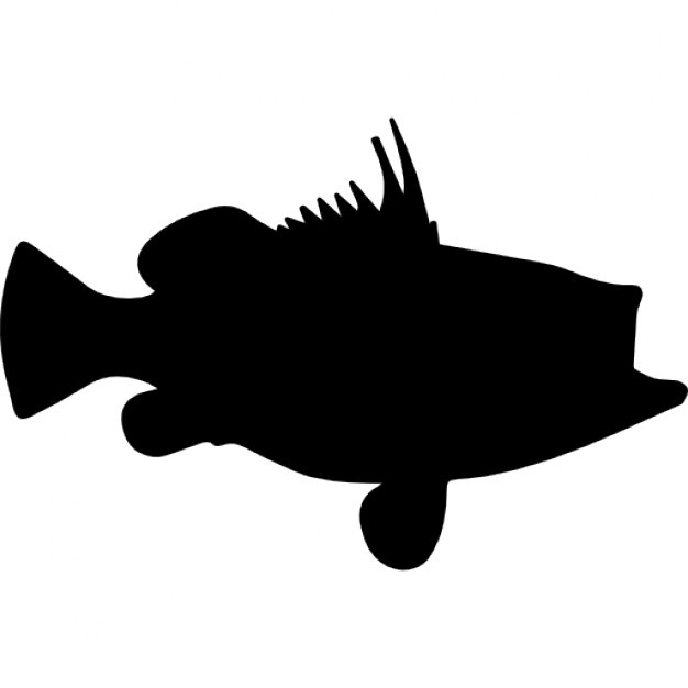 Bass Fish Silhouette Clipart