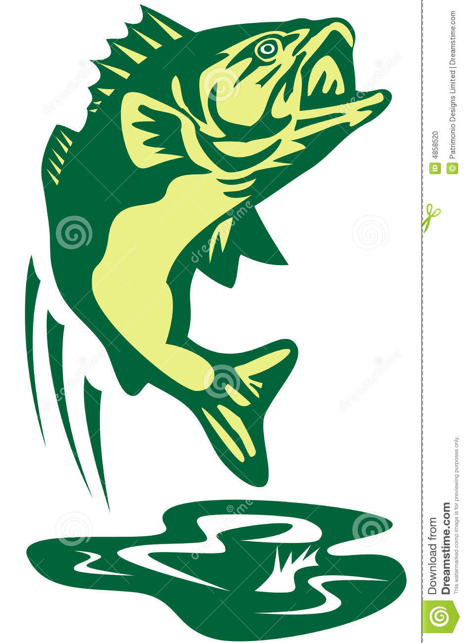 943x1300 Bass Fish Clip Art Jumping 4858520 In Fishing