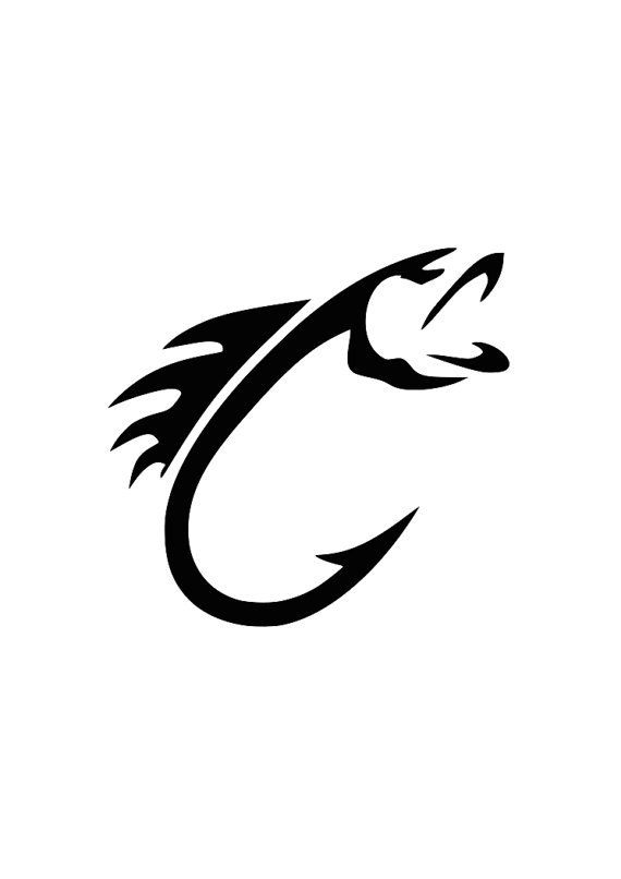 570x806 Fish Hook Svg For Cricut Or Silhoutte