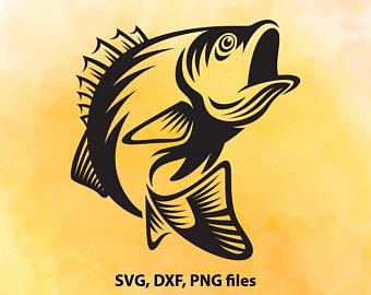 340x270 Fish With Name Svg Fish Monogram Dxf Fish Split Cut File