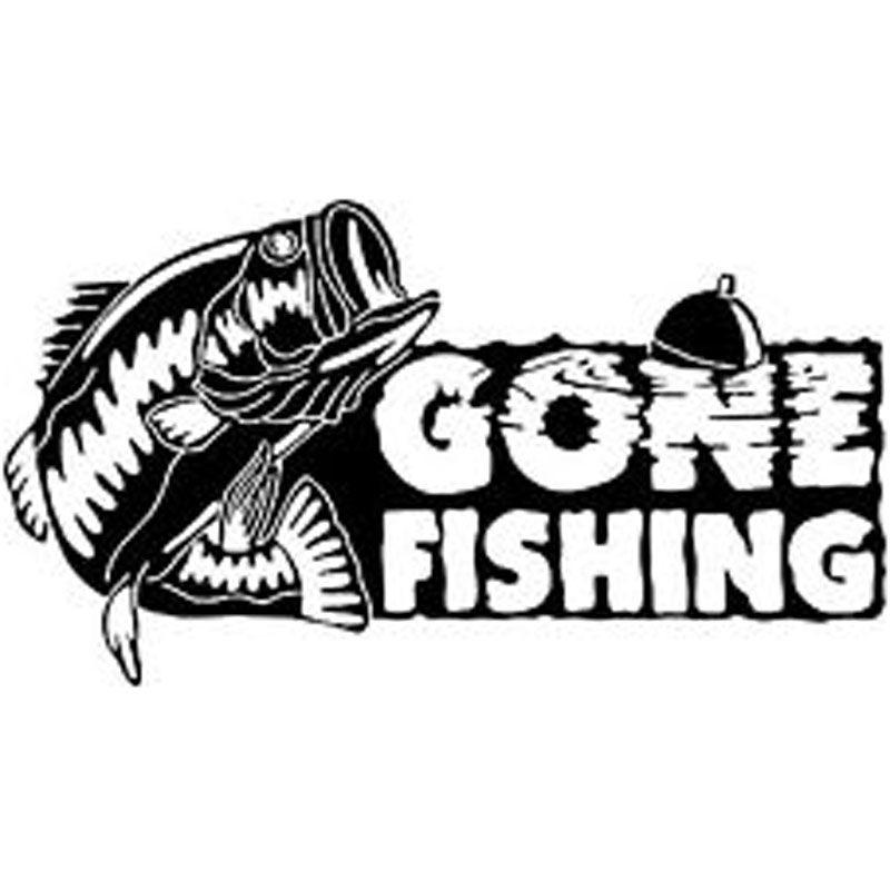 800x800 16cm9cm Gone Fishing Bass Fish Car Boat Truck Vinyl Decal Sticker