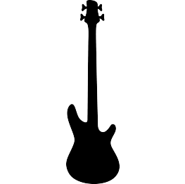 263x262 Free Svg Bass Guitar Silhouette Cricut!!! Guitars