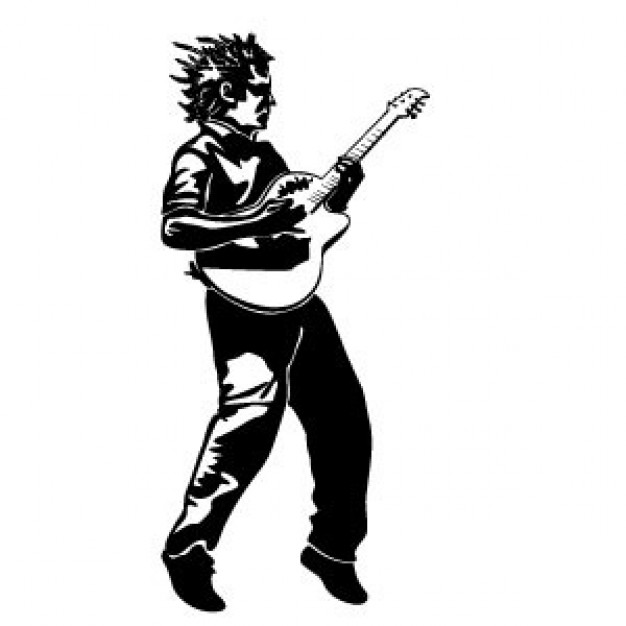 626x626 Guitar Player Vector Illustration Vector Free Download