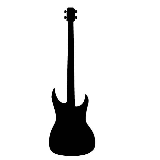 660x660 Bass Guitar Silhouette