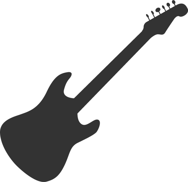 600x580 Guitar Silhouette Free Vector In Adobe Illustrator Ai ( Ai