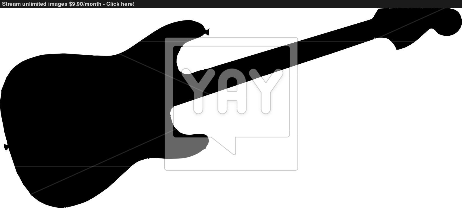 1600x722 Electric Guitar Silhouette Image