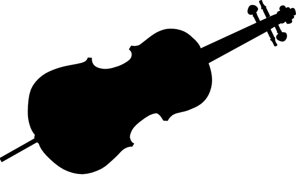 600x358 Cello Silhouette Clip Art
