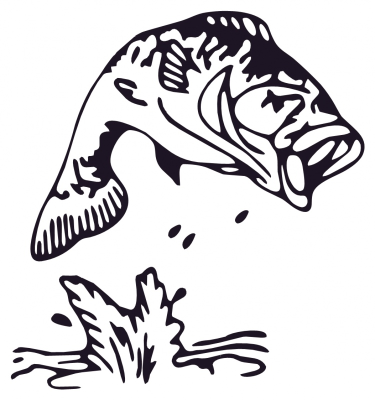 750x800 Jumping Fish Silhouette Clipart