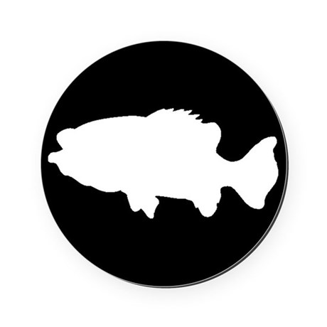 460x460 Sea Bass Silhouette Cork Coaster By Animalsilhouettegiftshop