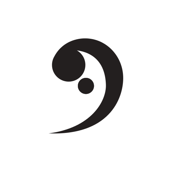 550x550 Bass Clef Silhouette