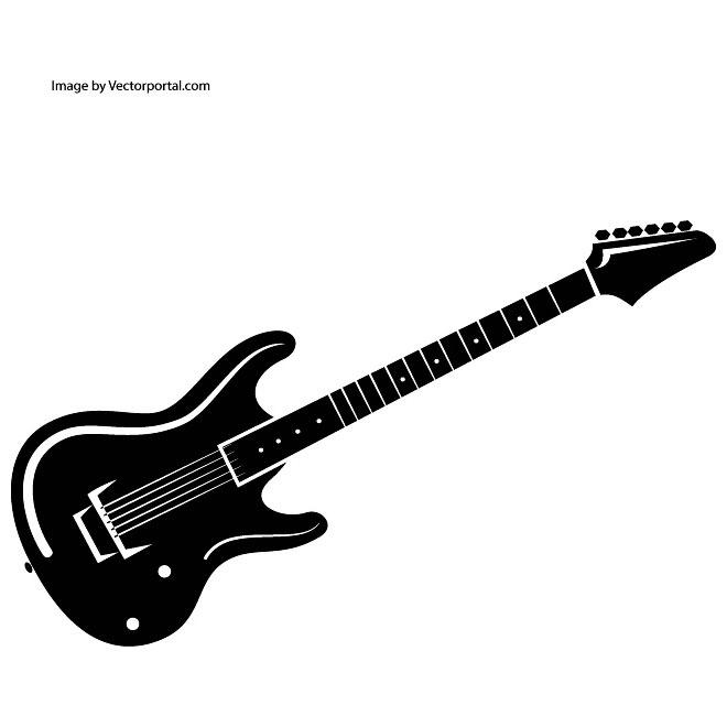 660x660 Bass Guitar Free Vector 123freevectors