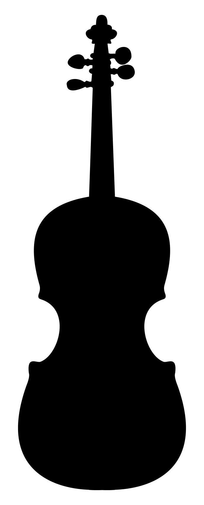 689x1700 Violin Silhouette 2 Clipart