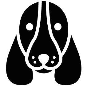 283x283 Basset Hound Dog Head Silhouette Silhouette Of Basset Hound Dog Head