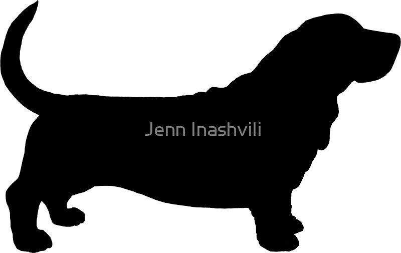 800x505 Basset Hound Silhouette(S) Stickers By Jenn Inashvili Redbubble