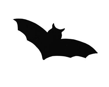 375x300 Halloween Bat Silhouette Template Clipart
