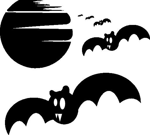 512x460 Halloween Bats Silhouette Clipart I2clipart