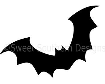 340x270 Bat Clipart, Bat Clip Art, Digital Bat, Halloween Illustration