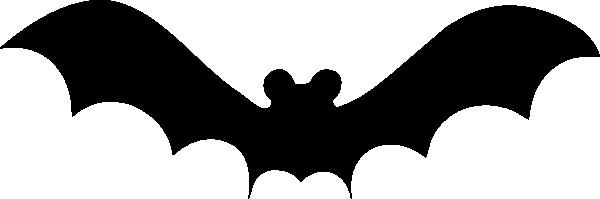 600x199 Simple Bat Silhouette Clip Art