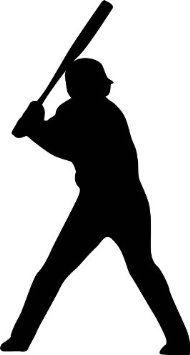 190x355 Baseball Bat Clipart Silhouette Collection