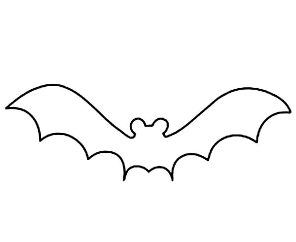 600x491 Bat Outline Clip Art