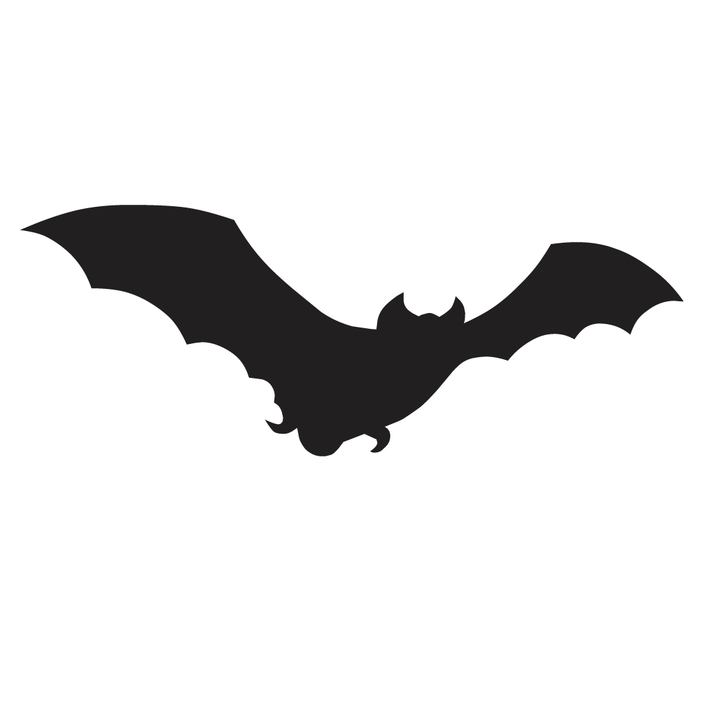 1024x1024 Bat Silhouette Decal Vinyl Sticker Sticker
