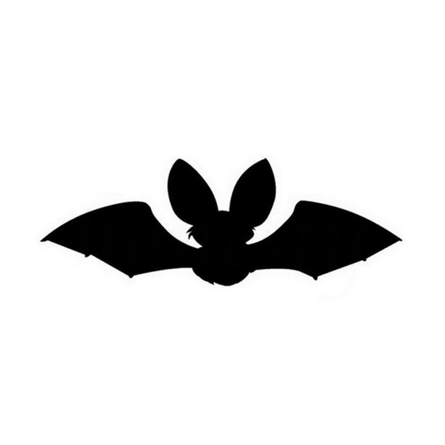 640x640 Cute Baby Bat Silhouette Cartoon Car Styling Wall Home Glass
