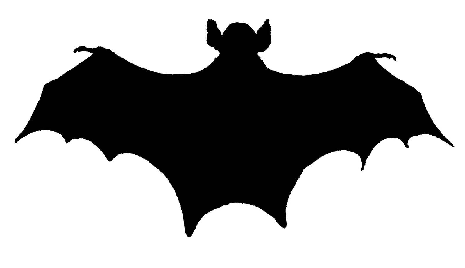 1600x925 Digital Stamp Design Royalty Free Halloween Bat Silhouette