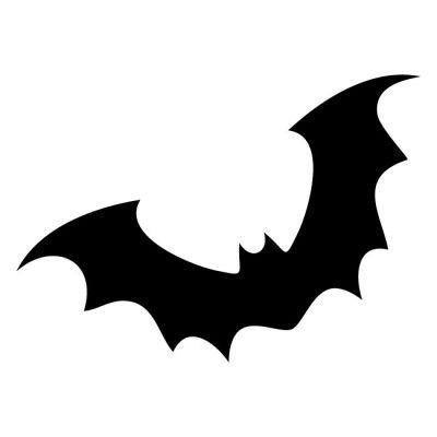 400x400 Halloween Bat Silhouette Template