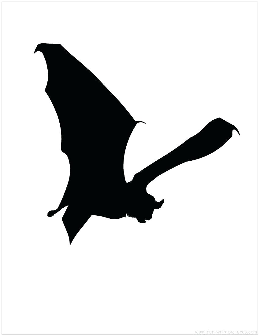 850x1100 Template Halloween Bat Template Silhouette Templates For Carving