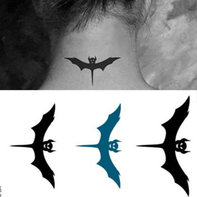 Bat Silhouette Tattoos