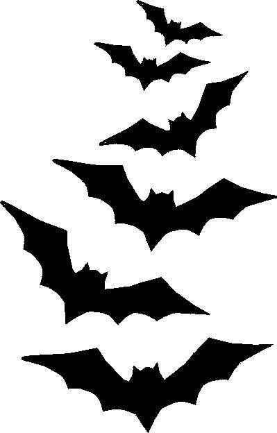399x624 Bat Stencils Happy Fall Y'All! Bat Stencil