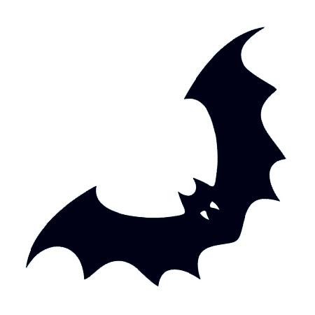 450x450 Black Bat With Fangs [10 Bat 00002]