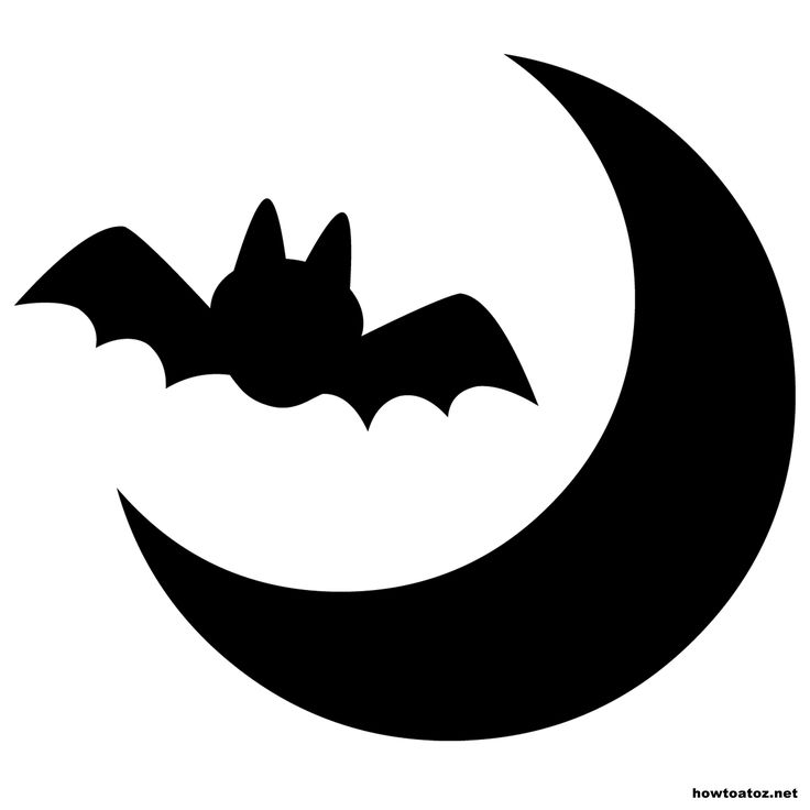 graphic about Pumpkin Stencils Free Printable named Bat Silhouette Template at  Free of charge for