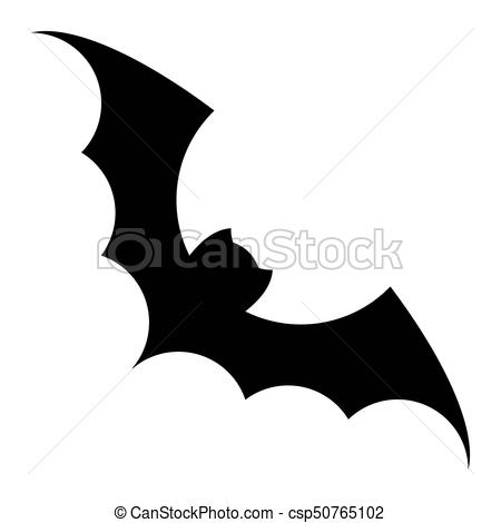 450x470 Bat Black Icon. Bat Silhouette Vector Black Icon. Isolated