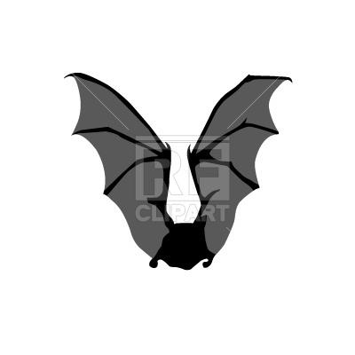 400x400 Bat Wing Spread Free Download Vector Clip Art Image