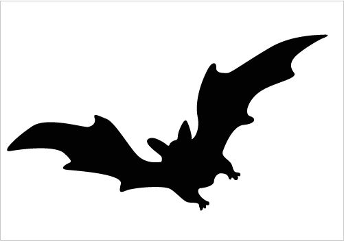 501x352 Flying Bat Silhouette Download Now Silhouette Graphics Animal