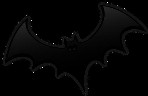 500x325 Gray Bat Silhouette Vector Image Public Domain Vectors