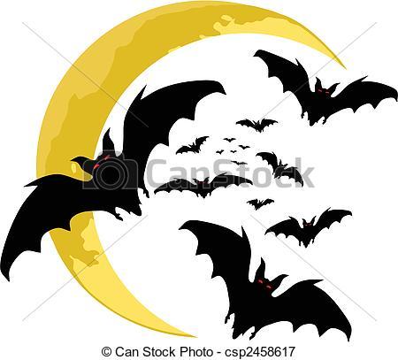 450x407 Halloween Backgrounds. Bats Silhouette Vector Vectors