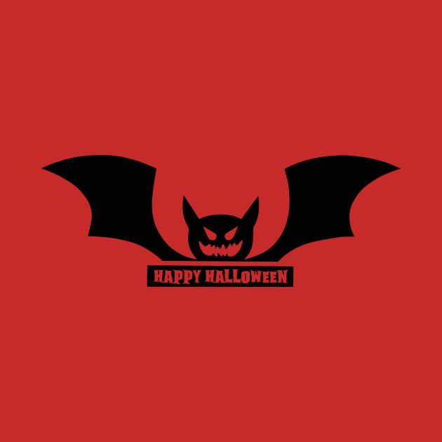 630x630 Happy Halloween Bat Silhouette Vector