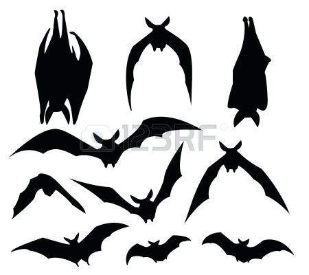 450x400 Template Bat Silhouette Template