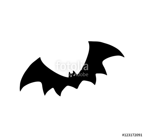 500x478 Bat Silhouette. Hand Drawn Vector Silhouette Illustration