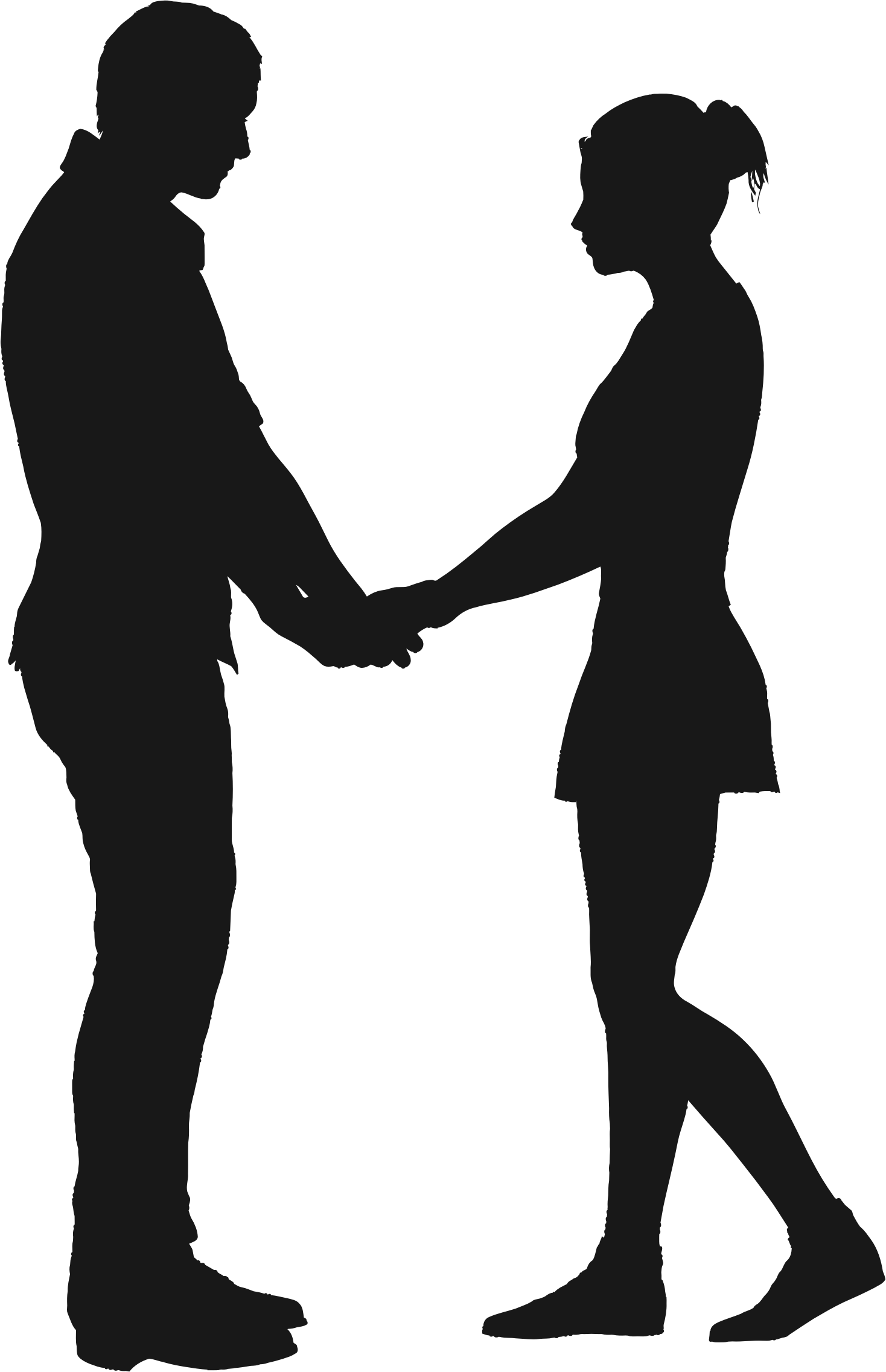 1468x2272 Silhouette Clipart Couple