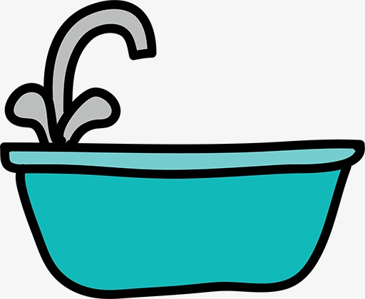 512x420 Stick Figure Bathtub, Cartoon Bathtub, Blue, Silhouette Png Image